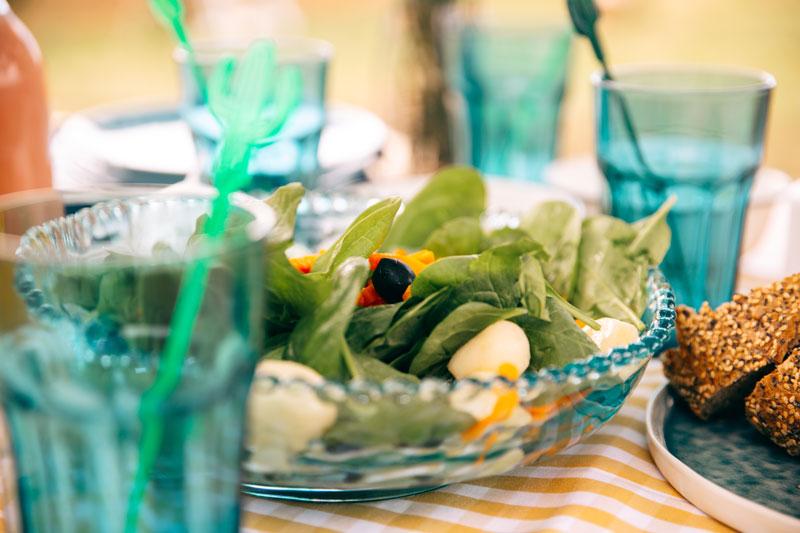 Bacalao con de ensalada verano