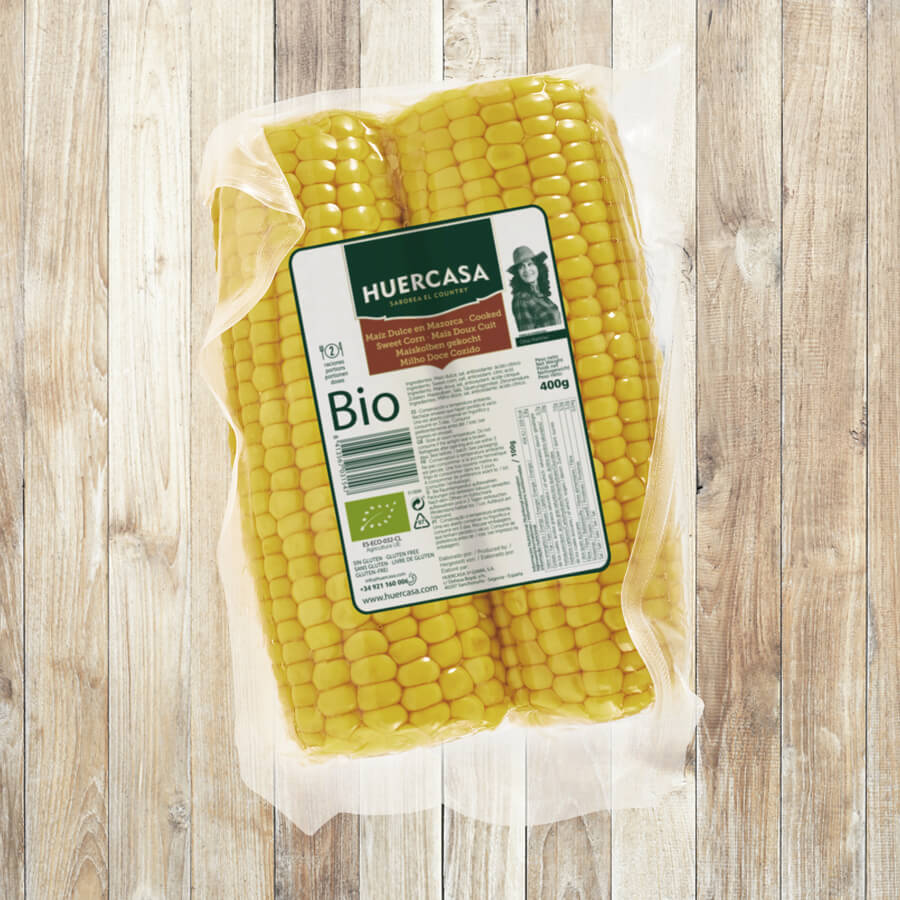 Ready-to-eat BIO corn on the cob